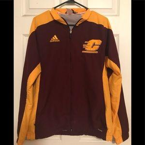 Central  Michigan University Adidas Zip-up Jacket